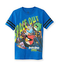 Angry Birds™ Boys' 8-20 Royal Short Sleeve Galaxy Tee