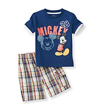 Disney® Boys' 2T-4T Navy 2-pc. Mickey Mouse Shorts Set