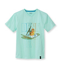 DKNY® Boys' 8-20 Green Short Sleeve Skateboard Tee