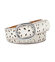 Fossil® Bone Perforated Strap Belt