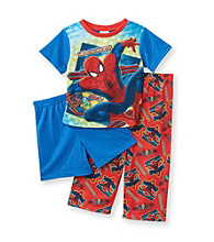 Spider-Man® Boys' 2T-4T Red/Blue 3-pc. Web Slinger Pajama Set