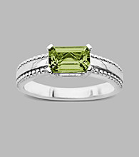 Sterling Silver Ring with Peridot,