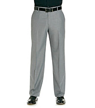 Kenneth Cole REACTION® Men's Grey Straight Fit Tonal Herringbone Dress Pant