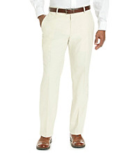 Kenneth Cole REACTION® Men's Light Beige Straight Fit Herringbone Dress Pant