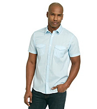 Calvin Klein Men's Short Sleeve Grid Check Woven Button Down