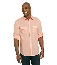 Calvin Klein Men's Roll-Up Long Sleeve Button Down Shirt