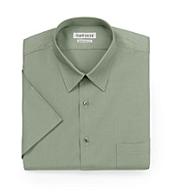 Van Heusen® Men's Teak Green Short Sleeve Poplin Dress Shirt