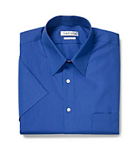 Van Heusen® Men's Pacific Blue Short Sleeve Poplin Dress Shirt