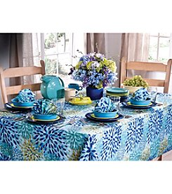 Fiesta® Turquoise Floral Calypso Table Linens