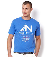 Nautica® Men's French Blue Graphic Tee Shirt