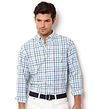 Nautica® Men's Reel Aqua Long Sleeve Plaid Button Down Shirt
