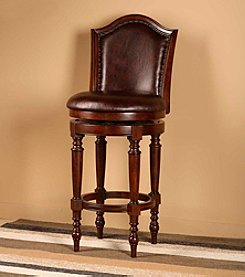 Hillsdale® Barcelona Brown Cherry Swivel Stool