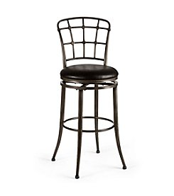 Hillsdale® Claymont Black Swivel Stool