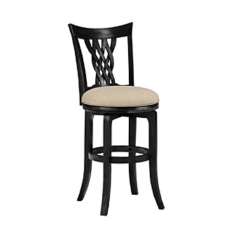 Hillsdale� Embassy Black Swivel Stool