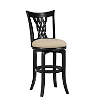 Hillsdale® Embassy Black Swivel Stool