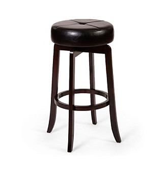 Hillsdale� Rhodes Walnut Backless Stool