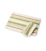 LivingQuarters Britannic Stripe Table Linens