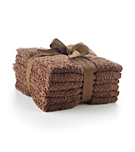 LivingQuarters 6-pk. Cocoa Cotton Washcloths
