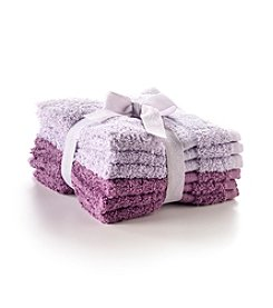 LivingQuarters 6-pk. Grape and Orchid Mist Cotton Washcloths