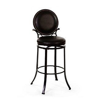 Hillsdale� Spencer Black Swivel Stool