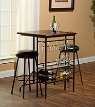 Hillsdale® Bardstown Bar Table With Two Backless Non-Swivel Bar Stools