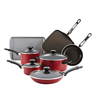 Farrberware® 12-pc. Red High Performance Nonstick Cookware Set