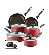 Farberware® 14-pc. Red Dishwasher Safe Nonstick Cookware Set