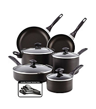 Farberware® 14-pc. Black Dishwasher Safe Nonstick Cookware Set