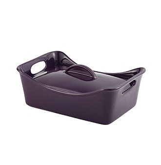 Rachael Ray® Stoneware 3.5-qt. Purple Covered Rectangle