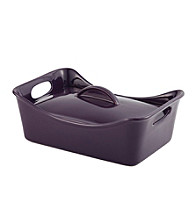 Rachael Ray® Stoneware 3.5-Quart Purple Covered Rectangle Casserole