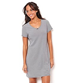 Nautica® Short Sleeve V-Neck Knit Chemise - Navy Stripe