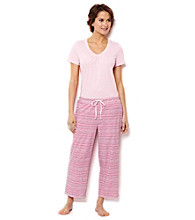 Nautica® Combo Pajama Set - Waterstripe Rose