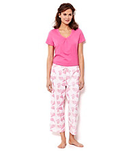 Nautica® Combo Pajama Set - Shell Rose
