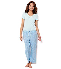 Nautica® Reef Blue Combo Pajama Set - Scallop Dot Blue