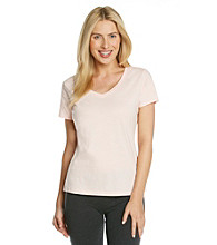 Jockey® Knit Short Sleeve Top - Light Pink