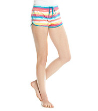 Steve Madden Knit Drawstring Shorts - Multi Stripe
