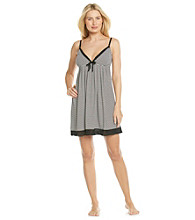 Relativity® Knit Contrast Trim Chemise - Black Stripe