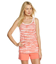 HUE® Knit Tank - Sophie Stripe Dubarry Pink