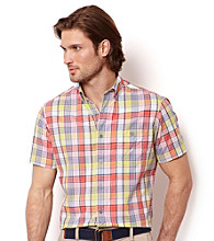 Nautica® Men's Short Sleeve Seaside Madras Woven