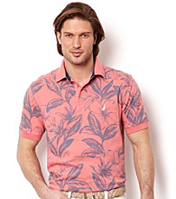 Nautica® Men's Sea Salmon Short Sleeve Floral Polo