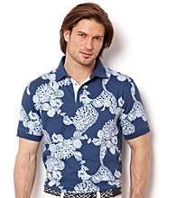 Nautica® Men's Jour Blue Short Sleeve Printed Polo