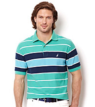 Nautica® Men's Jade Resort Short Sleeve Open Stripe Polo