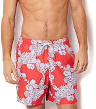Nautica® Men's Seaside Red Whimsy Coral Swim Shorts