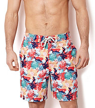 Nautica® Men's Seaside Madras Critter Swim Shorts