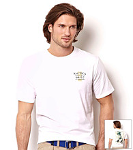 Nautica® Men's Short Sleeve Bright White Open Seas Graphic Tee