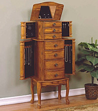 Powell® Woodland Oak Jewelry Armoire