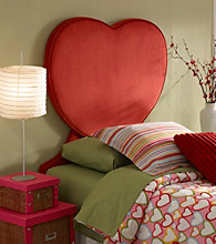Powell® Heart Shapded Upholstered Twin Headboard