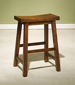 Powell® Honey Brown Wood Counter Stool