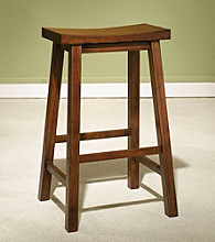 Powell® Honey Brown Wood Bar Stool