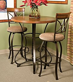 Powell® 3-pc. Hamilton Pub Table and Swivel Bar Stool Set